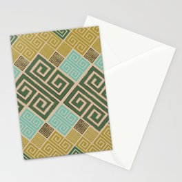 Meander Pattern - Greek Key Ornament #6 Stationery Cards