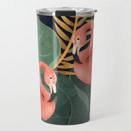 Two Flamingos Travel Mug