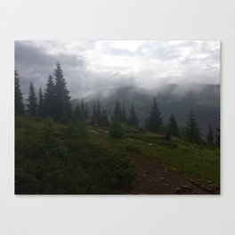 Misty Morning Mountains Canvas Print