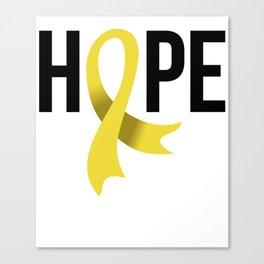 Hope Gold Ribbon Childhood Cancer Awareness Canvas Print