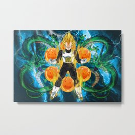 Vegeta Super Saiyan Metal Print