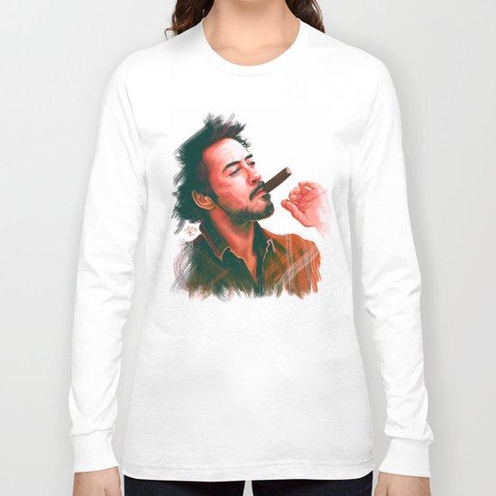 Mr Downey, Jr. Long Sleeve T-shirt