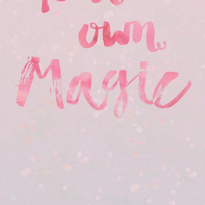 Create Magic  inspirational typography pastel watercolor Leggings