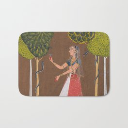 Snake Charmer - Indian Painting Bath Mat