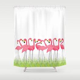Cuban Pink Flamingos Shower Curtain