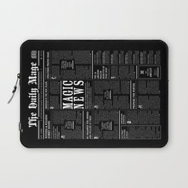 The Daily Mage Fantasy Newspaper II Laptop Sleeve