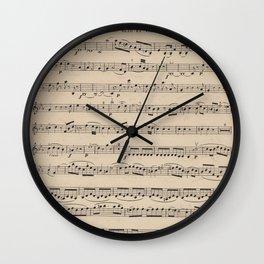 Mozart - String Quartet No. 1 - Sheet Music Wall Clock