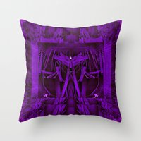 leather Throw Pillows featuring Leather Man by Pepita Selles