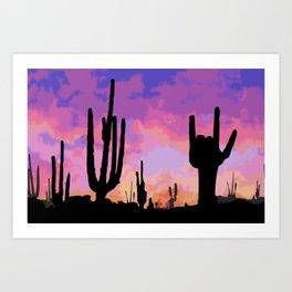 Signs seen in the Desert  Art Print