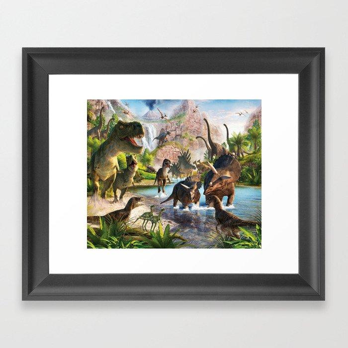 Jurassic dinosaur Gerahmter Kunstdruck