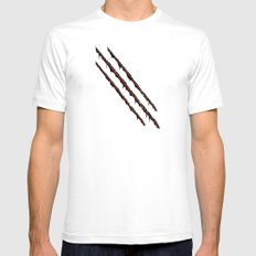 Sliced by You know who... SMALL Mens Fitted Tee White