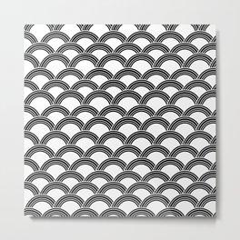 Japanese Wave Black & White Glam #1 #decor #art #society6 Metal Print