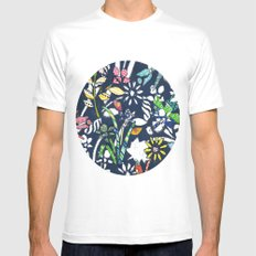 Flowers MEDIUM Mens Fitted Tee White
