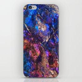 Blue Rainbow Oil Slick Crystals iPhone Skin