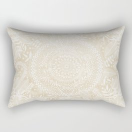 Medallion Pattern in Pale Tan Rectangular Pillow