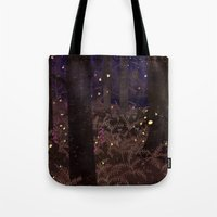 fireflies Tote Bags featuring fireflies by Lara Paulussen