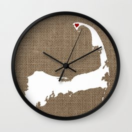 Provincetown looks like Burlap Wall Clock