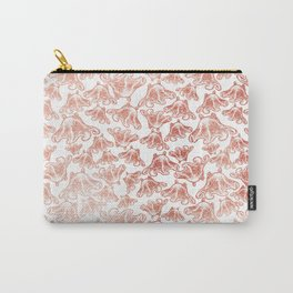 Rose Gold Octopus Print Carry-All Pouch