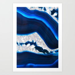 Electrical Agate Art Print
