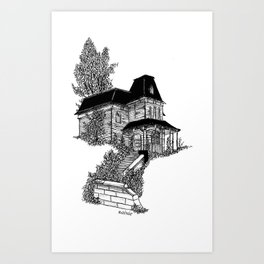 The Bates Motel House Art Print