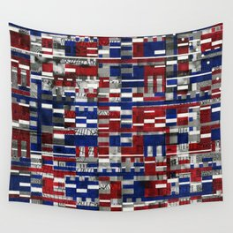 Simultaneous Love and Loathing (P/D3 Glitch Collage Studies) Wall Tapestry