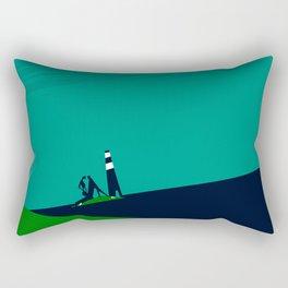 Between the marram grass Rectangular Pillow