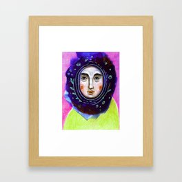 Girl from kyrgyzstan Framed Art Print