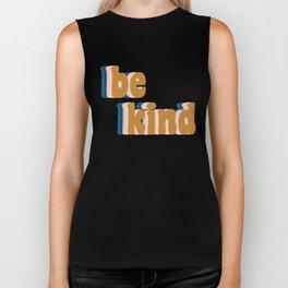 Be Kind Fun Retro Lettering Biker Tank