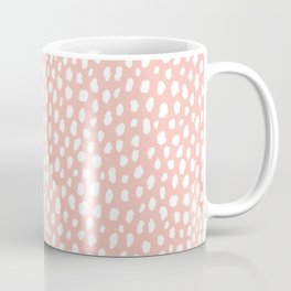 Pink Polka Dot Spots (white/pink) Coffee Mug