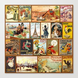 Vintage Chocolate Advertisements Canvas Print