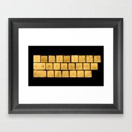 The WEALTHY Keyboard Framed Art Print