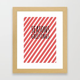 Season greetings polka Framed Art Print