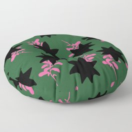 Dark and pink toned flower pattern Floor Pillow