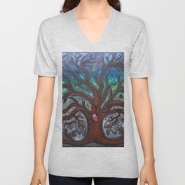 Tree of life Unisex V-Neck