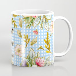 Not Your Babe - Floral Print on Polka Dots Coffee Mug