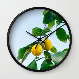 Amalfi Coast Lemons III Wall Clock