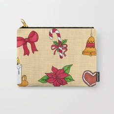 Christmas pattern (#2 yellow) Carry-All Pouch