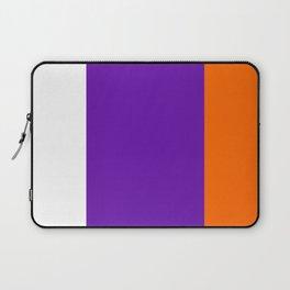 TEAM COLORS 8....Orange purple white Laptop Sleeve