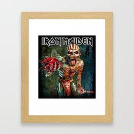 iron maiden book of souls heart tour 2019 2020 mawar Framed Art Print
