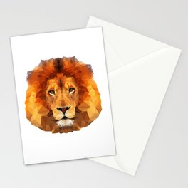 Geometric Lion Stationery Cards