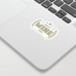 Hopeless Wine Addict Funny Addiction Sticker