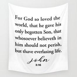 John 3:16 For God so loved the world Wall Tapestry