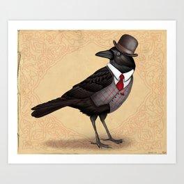 Mr Crow On Payday Art Print