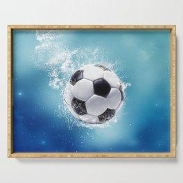 Soccer Water Splash Serving Tray