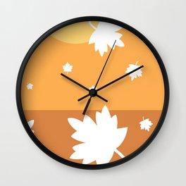 Autumn Maple Wall Clock