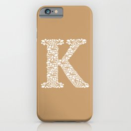 Floral Letter K iPhone Case