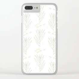White Willow Clear iPhone Case