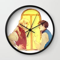 politics Wall Clocks featuring Politics by chazstity