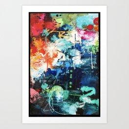 Colors Collide Art Print