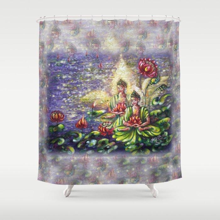 Buddha Shower Curtain By Hlmalik